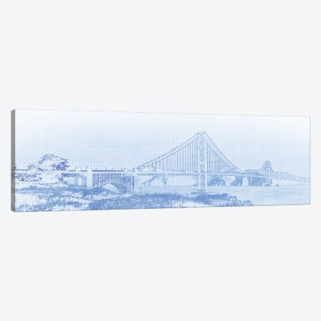 Golden Gate Bridge, San Francisco, San Francisco County, California, USA Canvas Print #PIM14668} by Panoramic Images Canvas Print