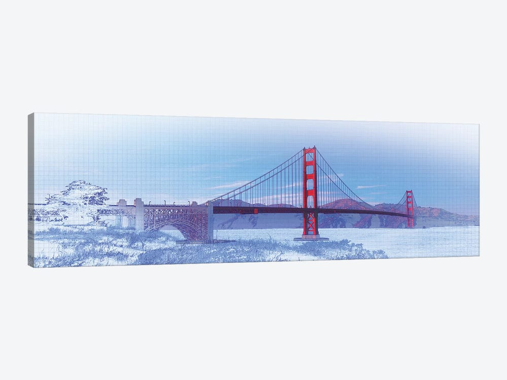 Golden Gate Bridge, San Francisco, San Francisco County, California, USA, Color by Panoramic Images 1-piece Canvas Print