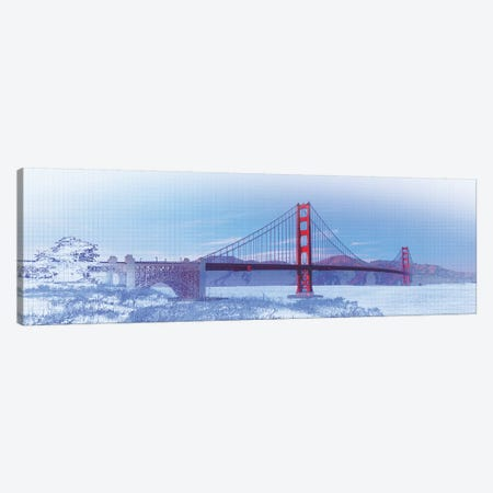 Golden Gate Bridge, San Francisco, San Francisco County, California, USA, Color Canvas Print #PIM14669} by Panoramic Images Art Print