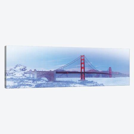 Golden Gate Bridge, San Francisco, San Francisco County, California, USA, Color Canvas Print #PIM14669} by Panoramic Images Art Print