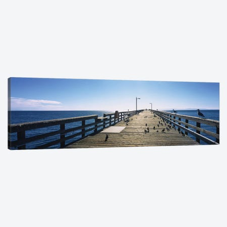 Goleta Beach Pier, Goleta, California, USA Canvas Print #PIM14670} by Panoramic Images Canvas Artwork