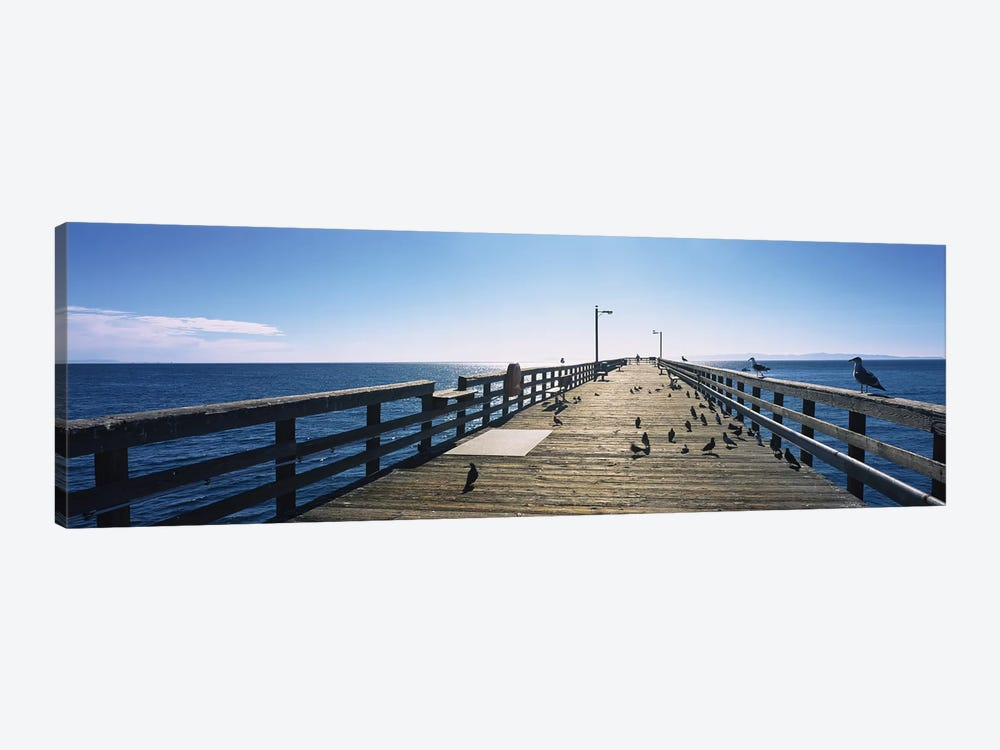 Goleta Beach Pier, Goleta, California, USA 1-piece Art Print
