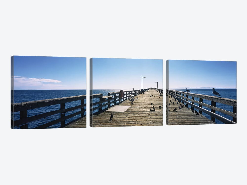 Goleta Beach Pier, Goleta, California, USA 3-piece Art Print