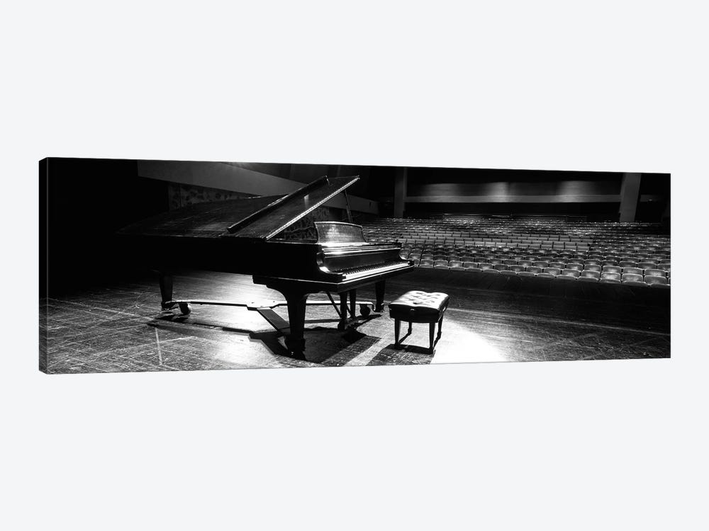 Grand Piano On A Concert Hall Stage, University Of Hawaii, Hilo, Hawaii, USA II by Panoramic Images 1-piece Canvas Wall Art