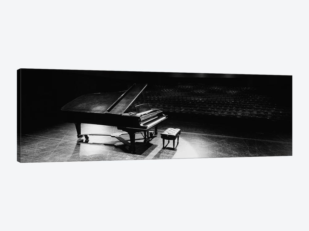 Grand Piano On A Concert Hall Stage, University Of Hawaii, Hilo, Hawaii, USA III by Panoramic Images 1-piece Canvas Art Print