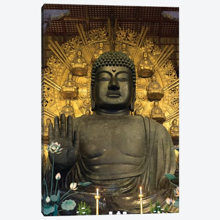 Great Buddha Statue In Todaiji Temple, Nara Prefecture, Japan Canvas Print #PIM14676} by Panoramic Images Canvas Print