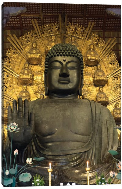 Great Buddha Statue In Todaiji Temple, Nara Prefecture, Japan Canvas Art Print