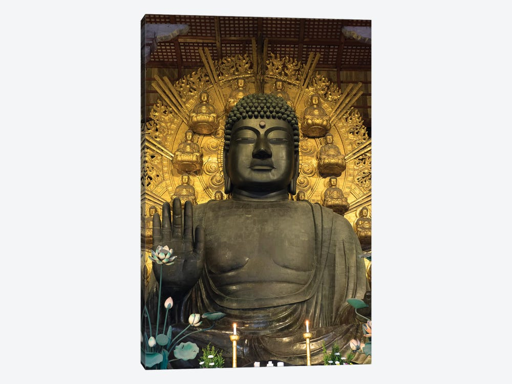 Great Buddha Statue In Todaiji Temple, Nara Prefecture, Japan by Panoramic Images 1-piece Canvas Art Print