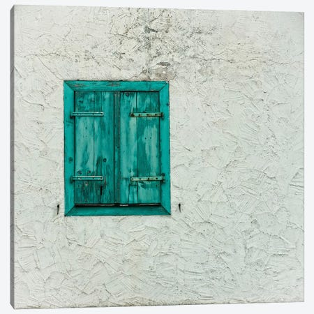 Green Window With Closed Shutter, Baden-Württemberg, Germany Canvas Print #PIM14680} by Panoramic Images Art Print