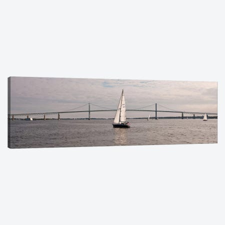 Gryphon Swan 44 Yacht Sailing In Regatta, Newport, Rhode Island, USA Canvas Print #PIM14683} by Panoramic Images Canvas Print