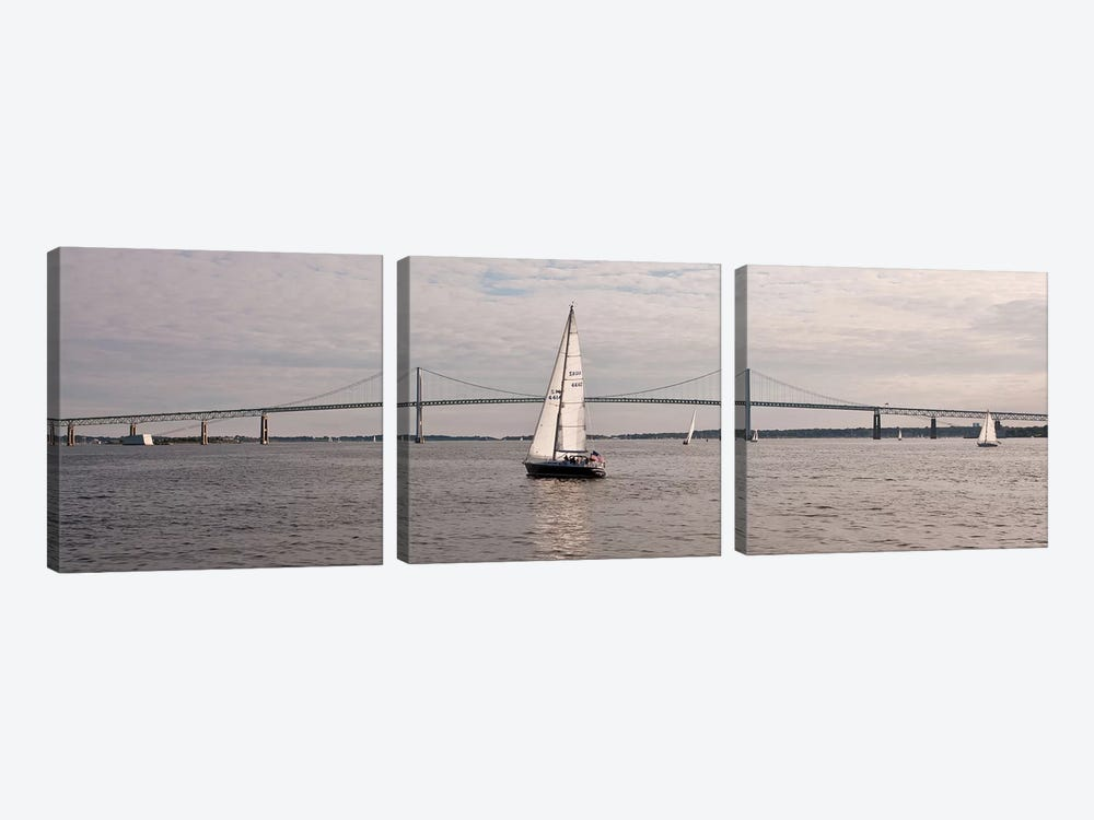 Gryphon Swan 44 Yacht Sailing In Regatta, Newport, Rhode Island, USA by Panoramic Images 3-piece Art Print