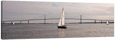Gryphon Swan 44 Yacht Sailing In Regatta, Newport, Rhode Island, USA Canvas Art Print