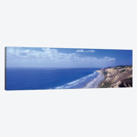 High Angle View Of A Coastline, Torrey Pines State Reserve, La Jolla, San Diego, California, USA Canvas Print #PIM14686} by Panoramic Images Canvas Wall Art