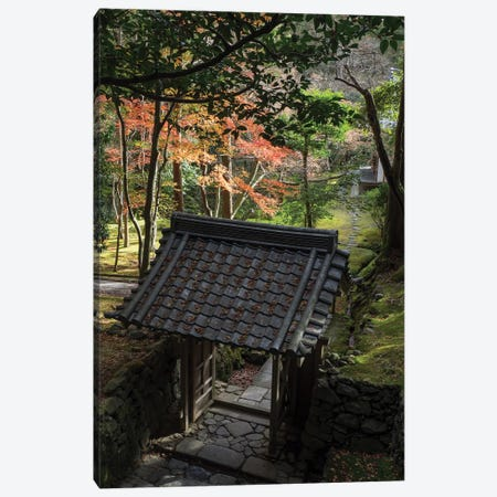 High Angle View Of Entrance Gate At Saihoji Temple, Kyoti Prefecture, Japan Canvas Print #PIM14687} by Panoramic Images Canvas Art