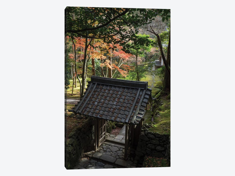 High Angle View Of Entrance Gate At Saihoji Temple, Kyoti Prefecture, Japan by Panoramic Images 1-piece Canvas Art Print