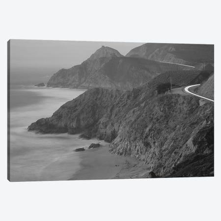 Highway 1 Pacific Coast At Dusk, California, USA Canvas Print #PIM14688} by Panoramic Images Art Print