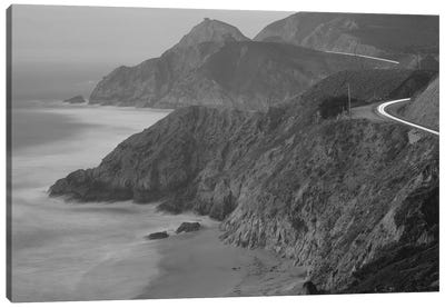 Highway 1 Pacific Coast At Dusk, California, USA Canvas Art Print