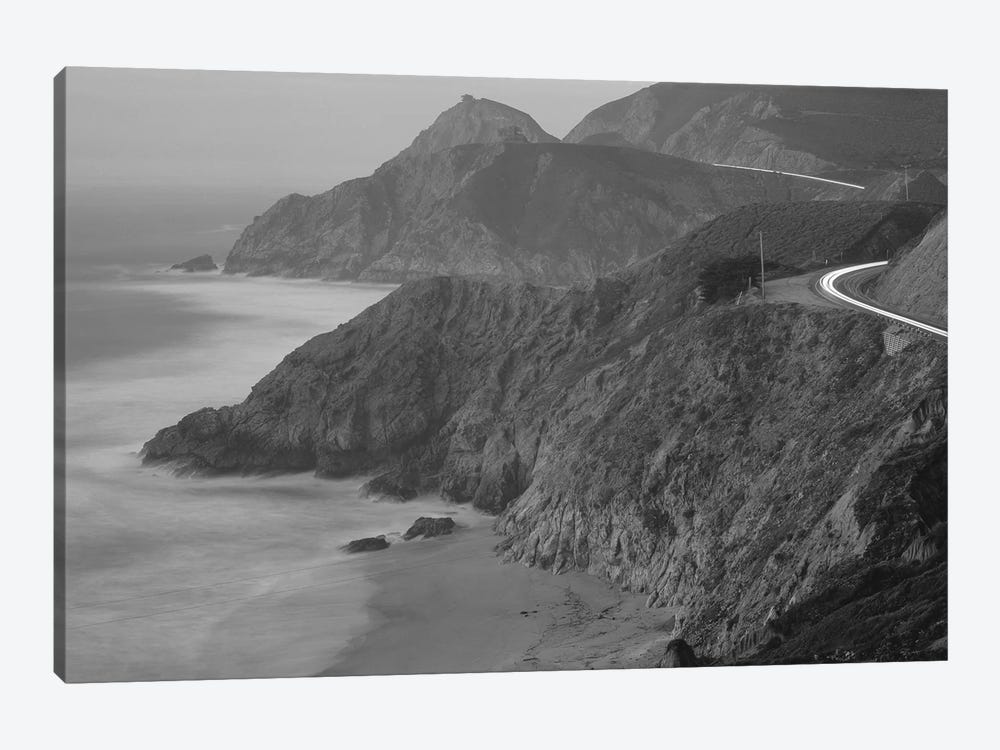 Highway 1 Pacific Coast At Dusk, California, USA by Panoramic Images 1-piece Canvas Wall Art