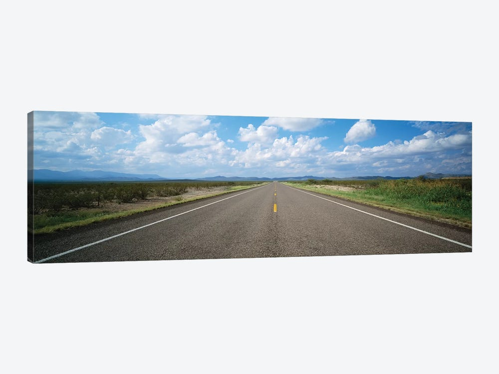 Highway Passing Through A Landscape, Texas, USA 1-piece Art Print