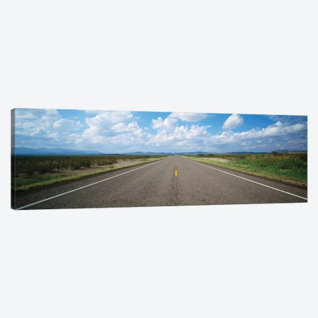 Highway Passing Through A Landscape, Texas, USA Canvas Print #PIM14689} by Panoramic Images Canvas Art Print