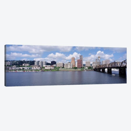 USAOregon, Portland, Willamette River Canvas Print #PIM1468} by Panoramic Images Art Print