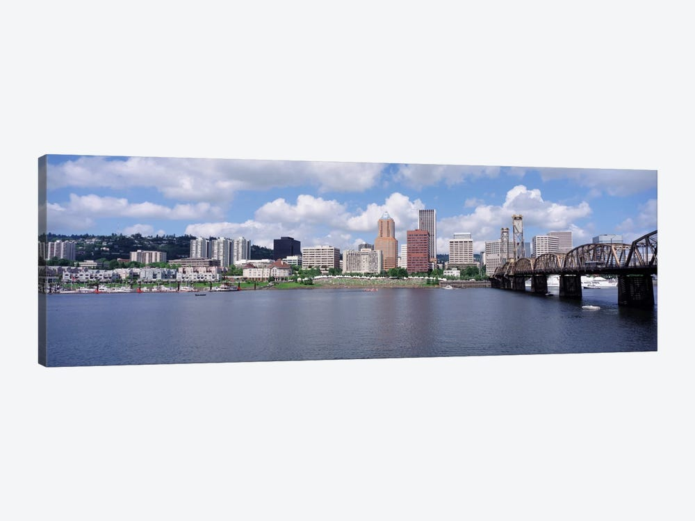 USAOregon, Portland, Willamette River by Panoramic Images 1-piece Canvas Art Print