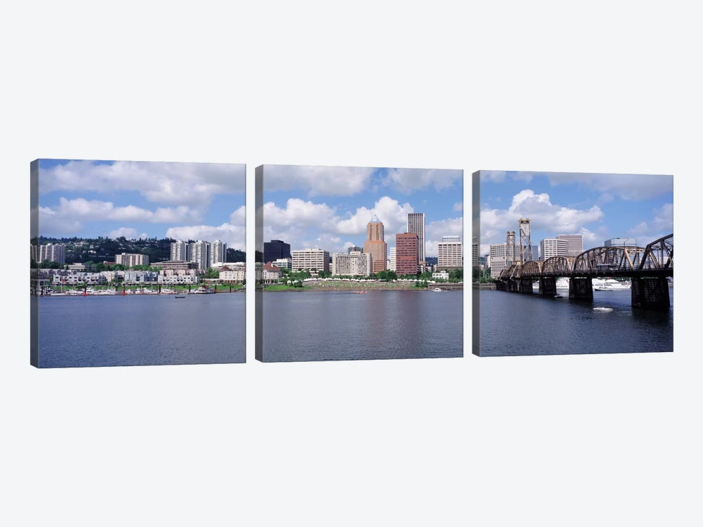 USAOregon, Portland, Willamette River by Panoramic Images 3-piece Canvas Print