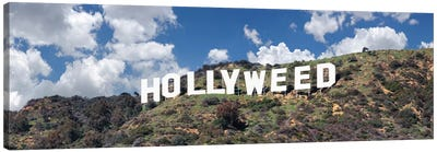Hollywood Sign Changed To Hollyweed, Los Angeles, California, USA Canvas Art Print