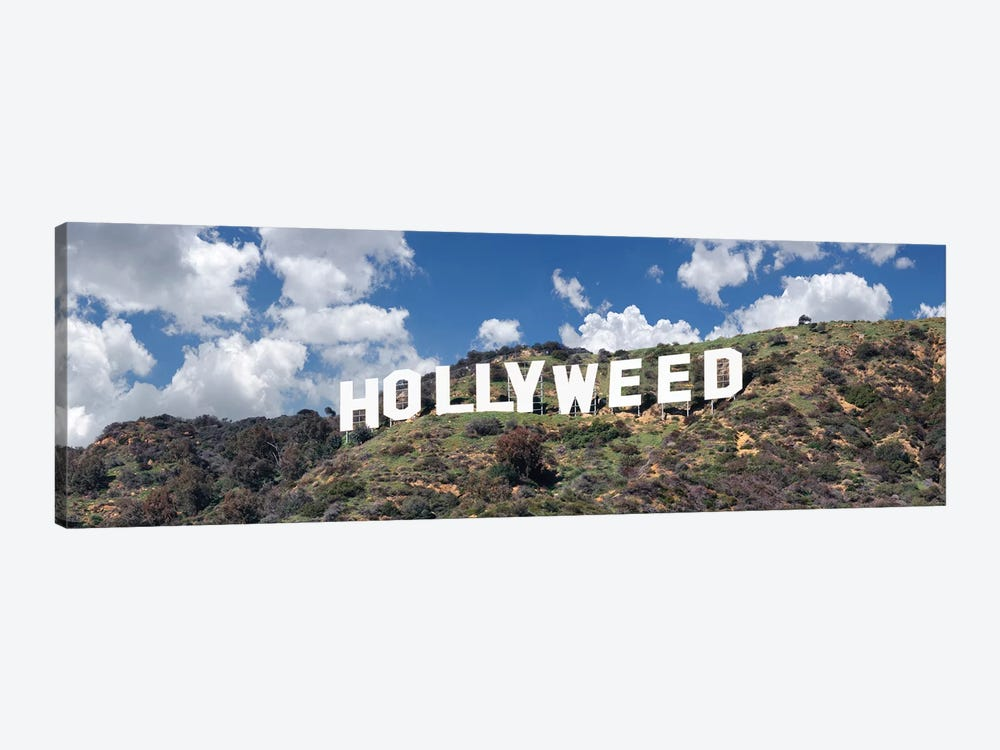 Hollywood Sign Changed To Hollyweed, Los Angeles, California, USA by Panoramic Images 1-piece Canvas Art