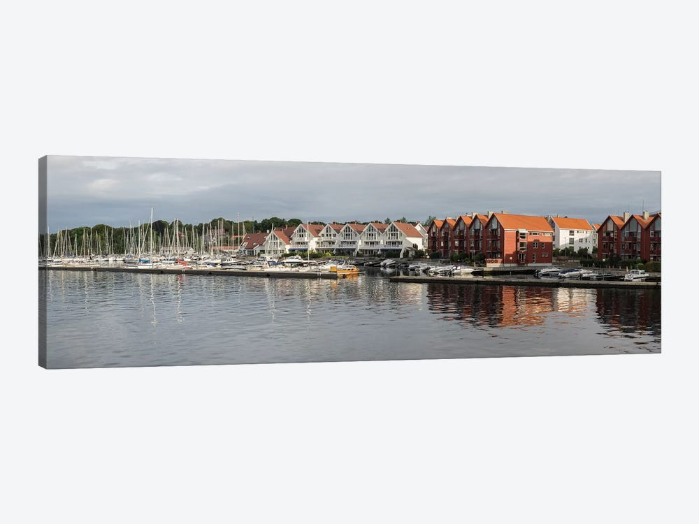Houses At The Waterfront, Grasholmen, Stavanger, Rogaland County, Norway by Panoramic Images 1-piece Canvas Art Print