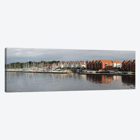 Houses At The Waterfront, Grasholmen, Stavanger, Rogaland County, Norway Canvas Print #PIM14696} by Panoramic Images Canvas Art Print