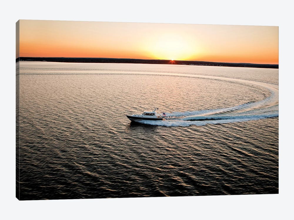 Hunt 52 Yacht At Sea, Newport, Rhode Island, USA I by Panoramic Images 1-piece Canvas Art Print