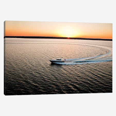 Hunt 52 Yacht At Sea, Newport, Rhode Island, USA I Canvas Print #PIM14698} by Panoramic Images Canvas Art