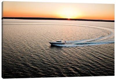 Hunt 52 Yacht At Sea, Newport, Rhode Island, USA I Canvas Art Print