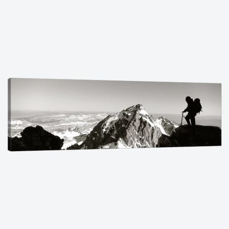 HikerGrand Teton Park, Wyoming, USA Canvas Print #PIM1469} by Panoramic Images Canvas Print