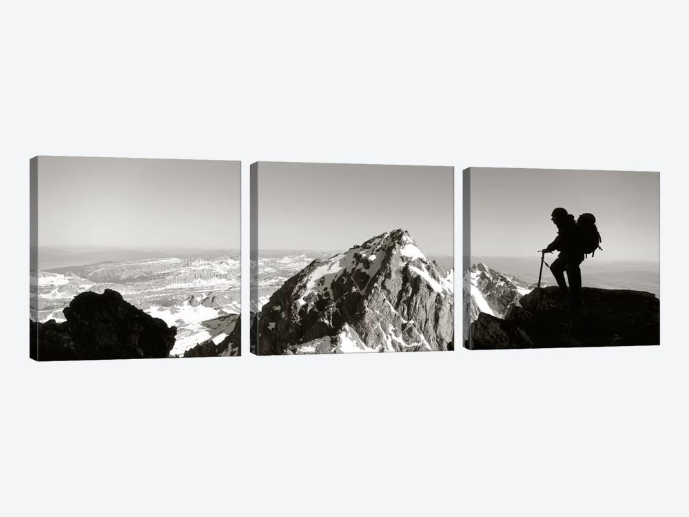 HikerGrand Teton Park, Wyoming, USA by Panoramic Images 3-piece Canvas Artwork