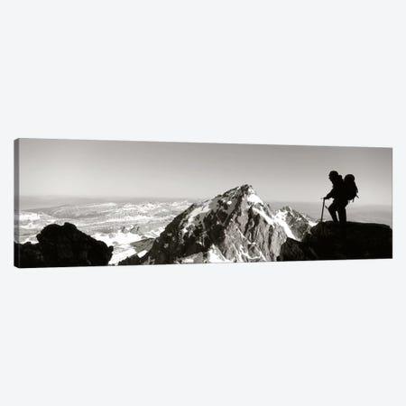 HikerGrand Teton Park, Wyoming, USA Canvas Print #PIM1469} by Panoramic Images Canvas Print