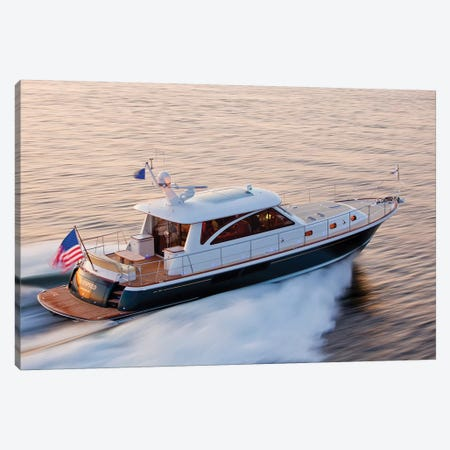 Hunt 52 Yacht At Sea, Newport, Rhode Island, USA IV Canvas Print #PIM14701} by Panoramic Images Canvas Wall Art