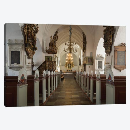 Interiors Of Budolfi Church, Aalborg, Denmark Canvas Print #PIM14705} by Panoramic Images Art Print