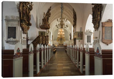Interiors Of Budolfi Church, Aalborg, Denmark Canvas Art Print