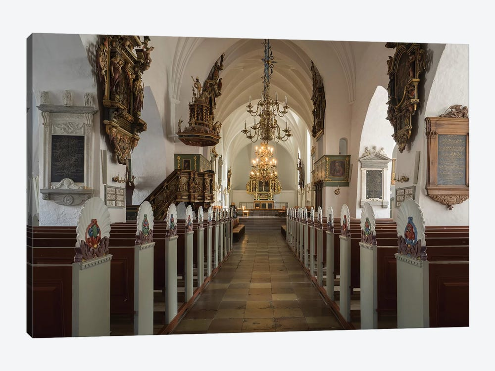 Interiors Of Budolfi Church, Aalborg, Denmark by Panoramic Images 1-piece Canvas Artwork