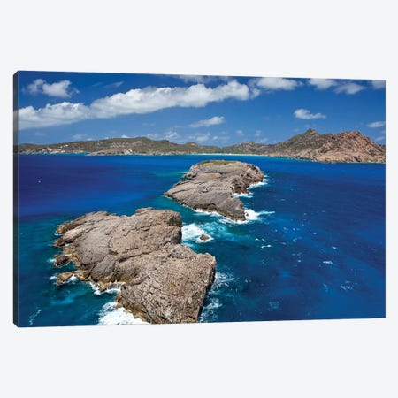 Islands At Saint Barthélemy, Caribbean Sea Canvas Print #PIM14706} by Panoramic Images Art Print