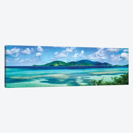 Islands In The Sea, Leinster Bay, U.S. Virgin Islands Canvas Print #PIM14707} by Panoramic Images Art Print