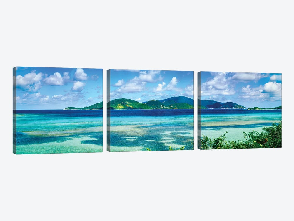 Islands In The Sea, Leinster Bay, U.S. Virgin Islands by Panoramic Images 3-piece Canvas Artwork