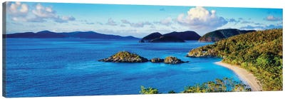 Islands In The Sea, Trunk Bay, Saint John, U.S. Virgin Islands Canvas Art Print