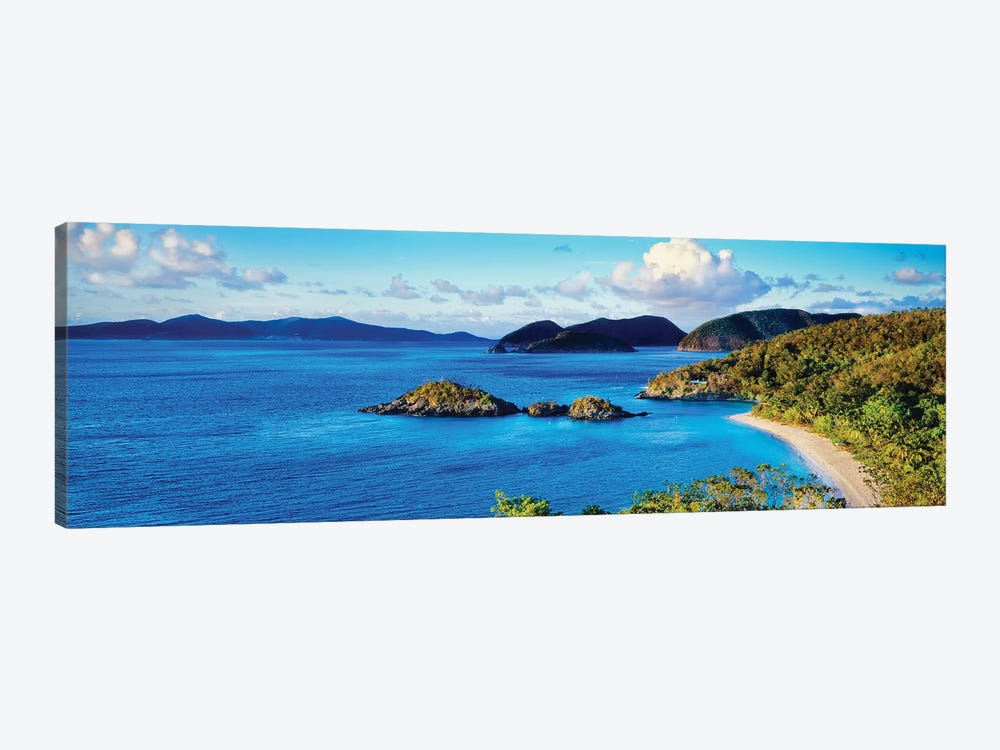 Islands In The Sea, Trunk Bay, Saint John, U.S. Virgin Islands by Panoramic Images 1-piece Canvas Art Print