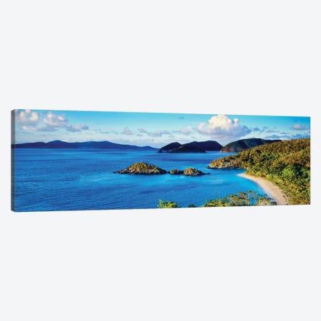Islands In The Sea, Trunk Bay, Saint John, U.S. Virgin Islands Canvas Print #PIM14708} by Panoramic Images Canvas Wall Art