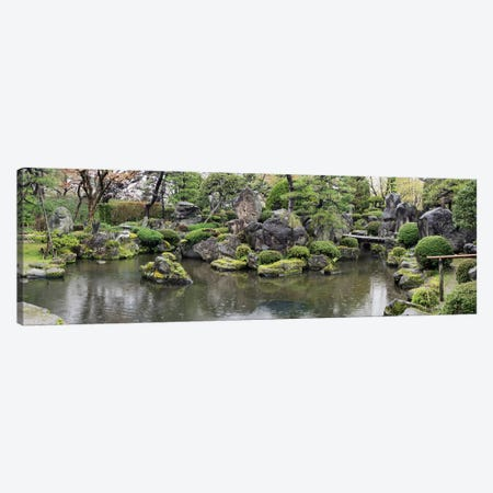 Koi Fish In A Pond At Hirosaki Park, Hirosaki, Aomori Prefecture, Japan Canvas Print #PIM14713} by Panoramic Images Art Print