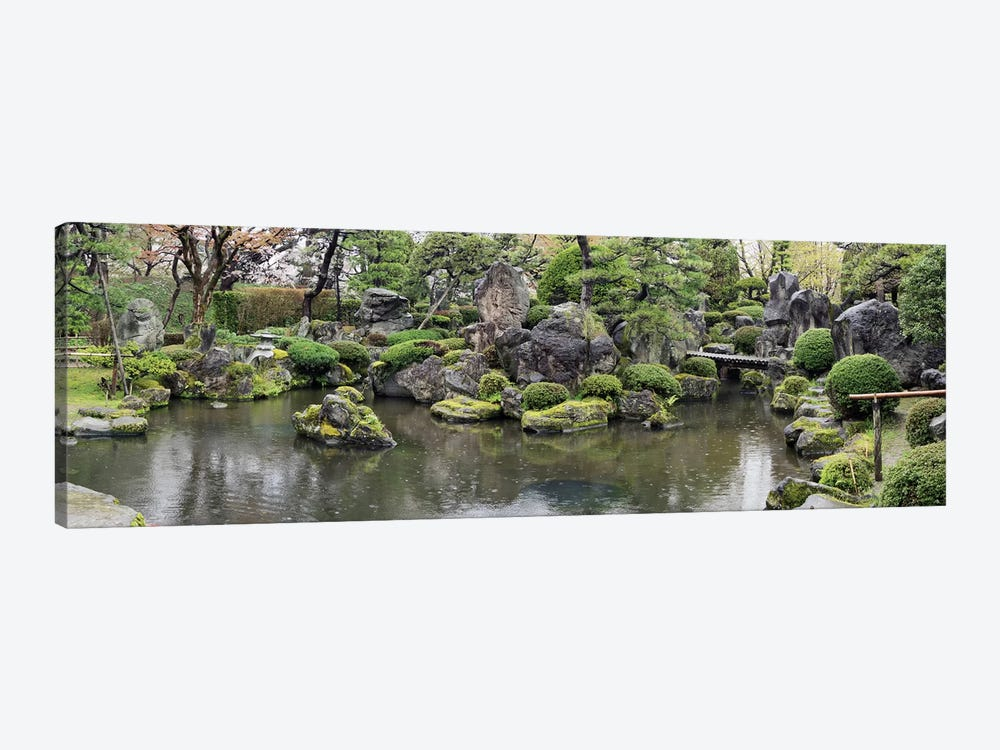 Koi Fish In A Pond At Hirosaki Park, Hirosaki, Aomori Prefecture, Japan by Panoramic Images 1-piece Canvas Art Print