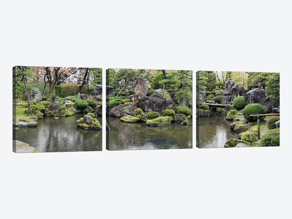 Koi Fish In A Pond At Hirosaki Park, Hirosaki, Aomori Prefecture, Japan by Panoramic Images 3-piece Canvas Print